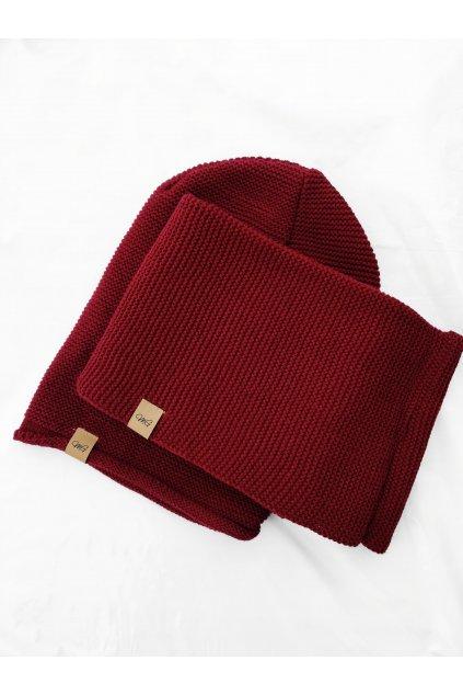 Zimní komplet čepice, šála MG (3)