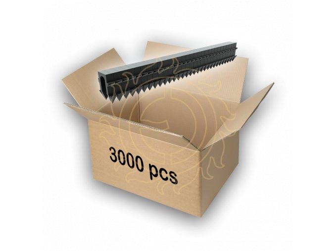 Příchytka kabelu/černá (multipack 3000 ks)