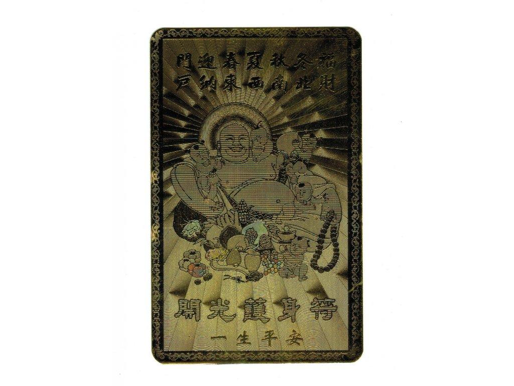 Zlatá karta ochrany - Buddha s dětmi
