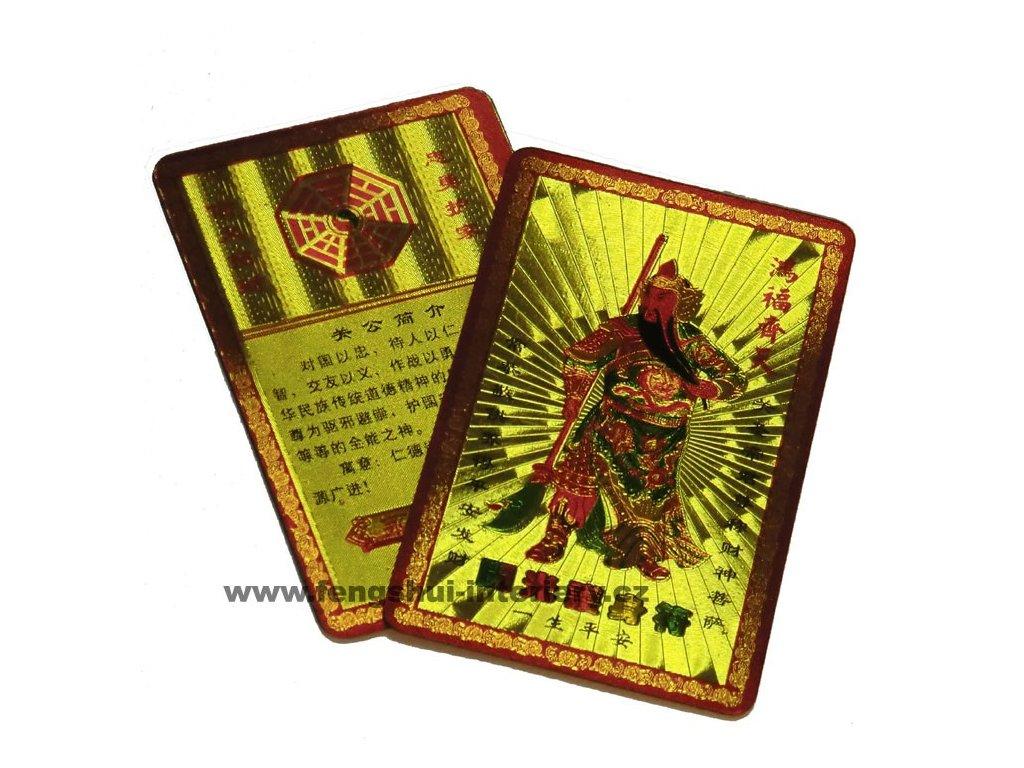 Zlatá karta ochrany - Kwan Kung