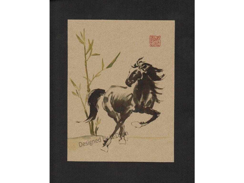 Cválající kůň 3 H