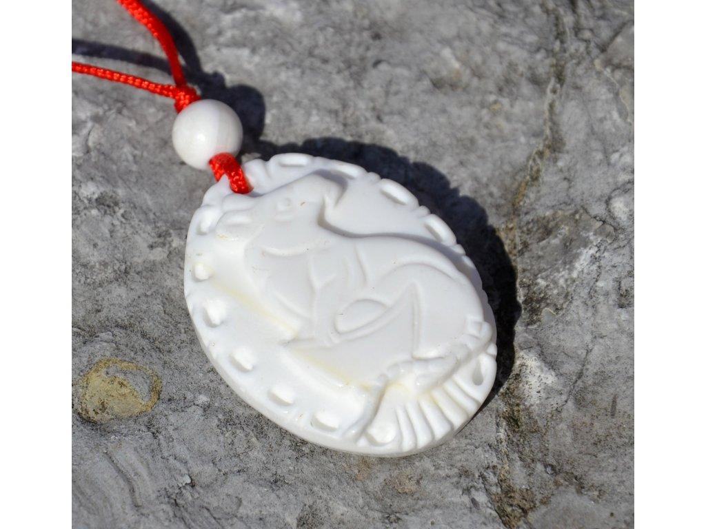 Přívěsek MYŠ - mořský kámen