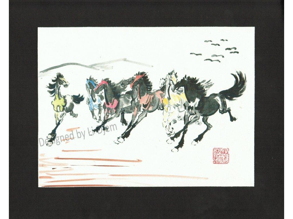 Osm cválajících koní B