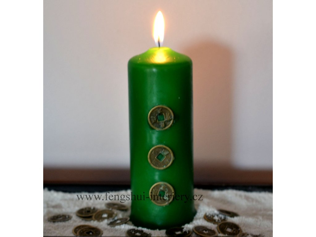 Svíčka HOJNOST S MINCEMI