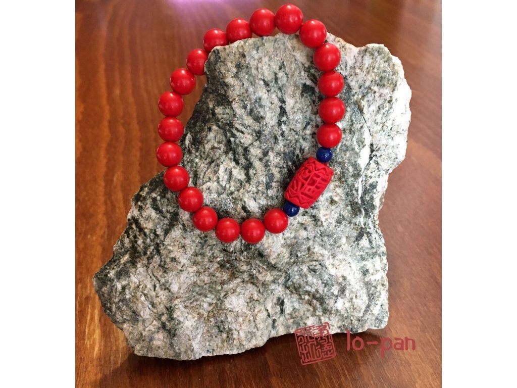 Cinabar stone - meditační náramek