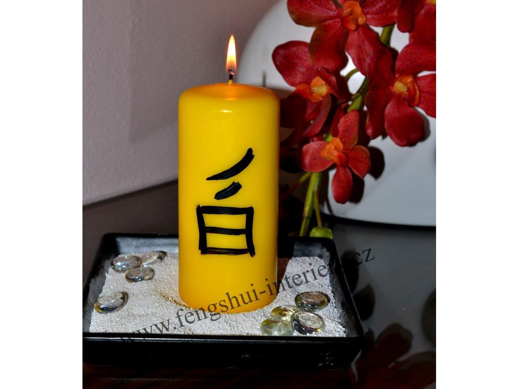 BEZSTAROSTNOST kaligrafická svíčka