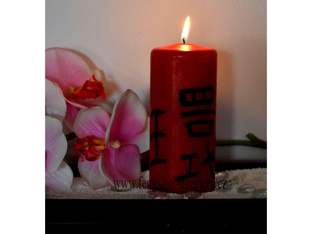 LÁSKA A ZASNOUBENÍ kaligrafická svíčka