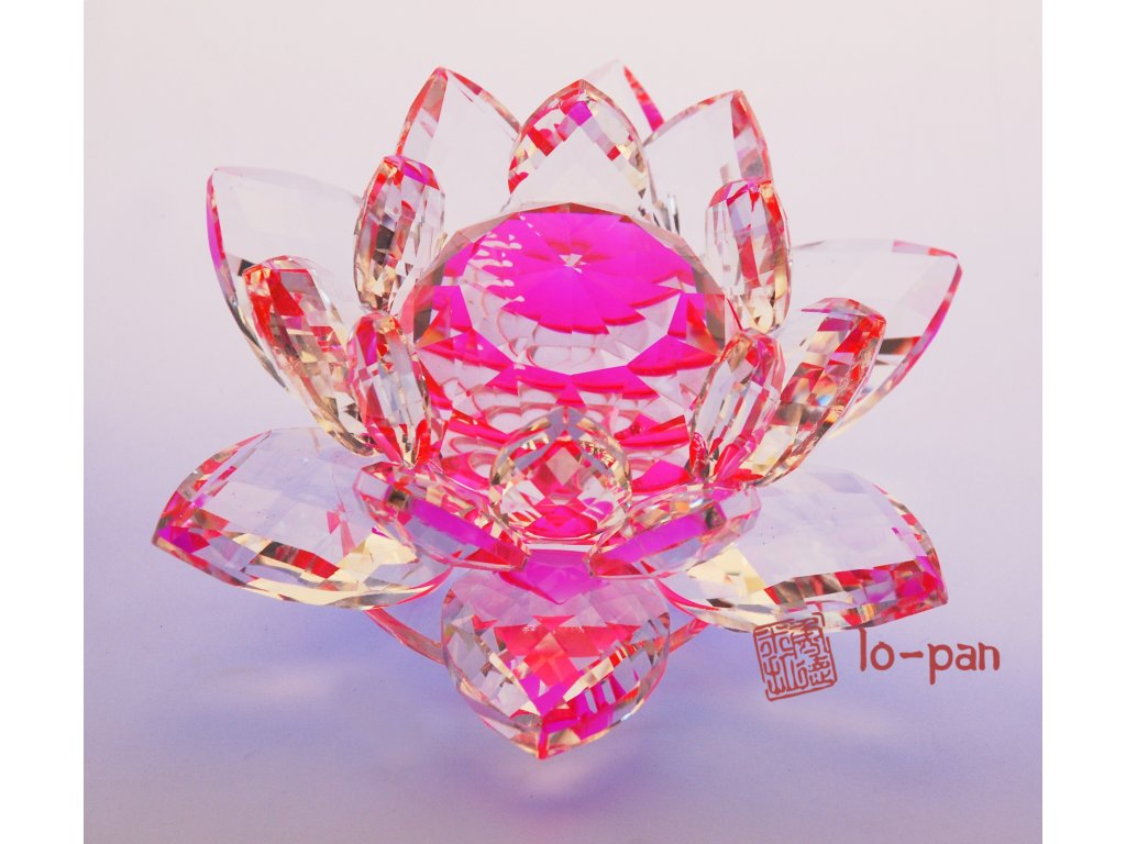 LOTOS křišťálové čistoty růžový XL