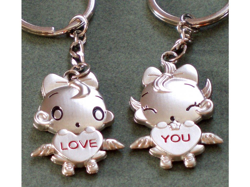 Přívěsek na klíče  LOVE YOU