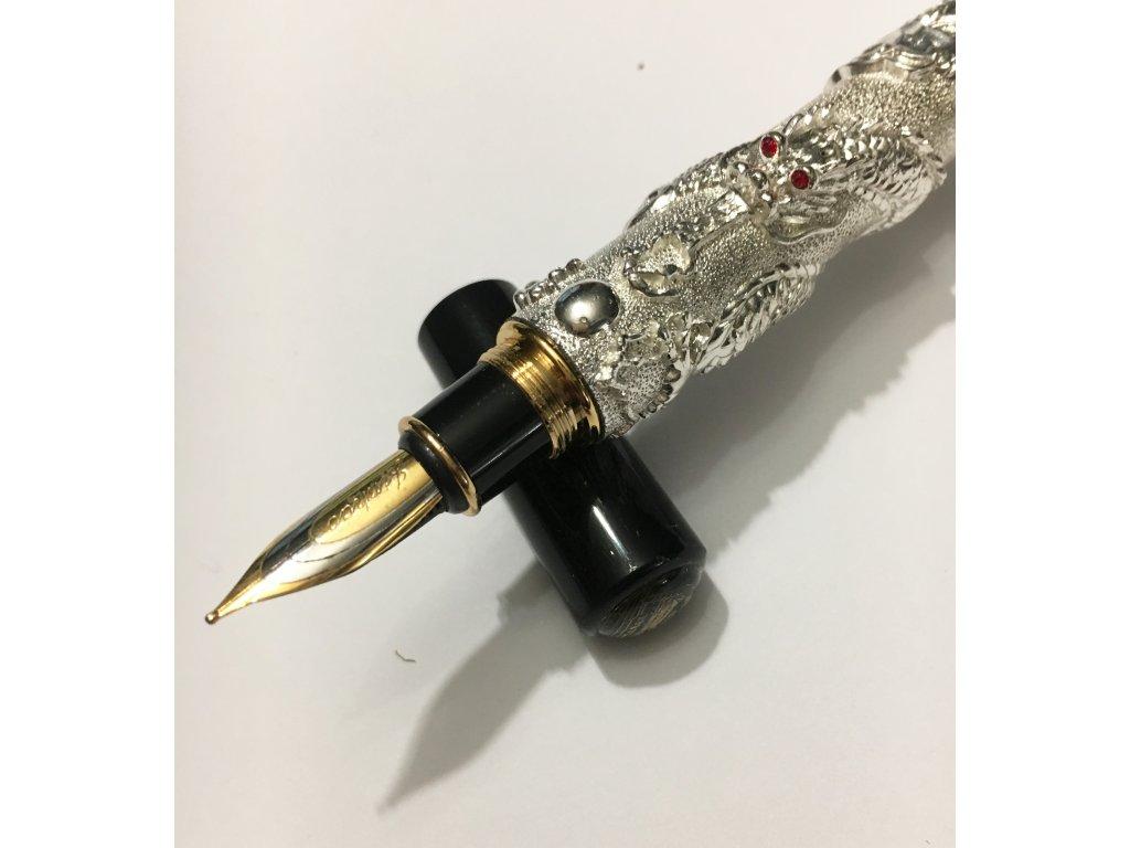 Plnící pero DRAK - stříbrné