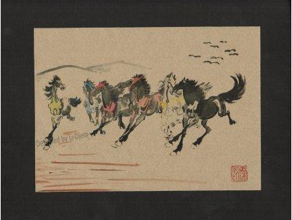 Osm cválajících koní H