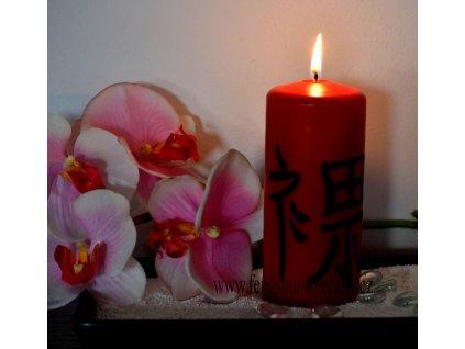 ODDÁNÍ SE kaligrafická svíčka