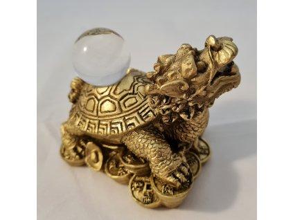 Dračí želva s perlou štěstí