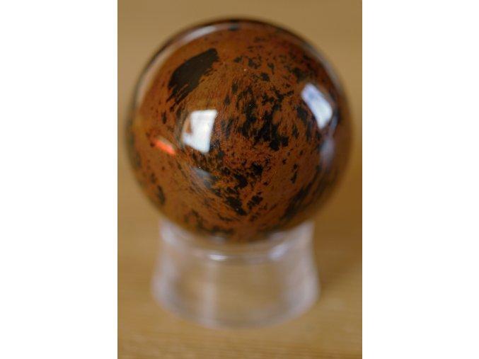obsidián mahagonový koule 2