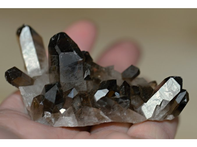 záhněda krystaly drůza 14