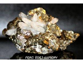 pyrit chalkopyrit křišťál sulfidy 1
