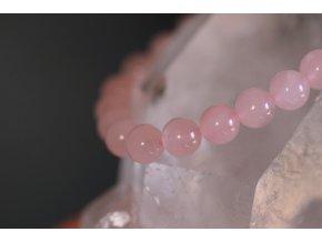 růženín náramek kuličky velké kvalitní 7