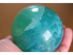 flurit velký zelený koule 13