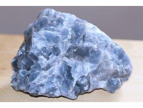 modrý kalcit surový velký přírodní kámen 9