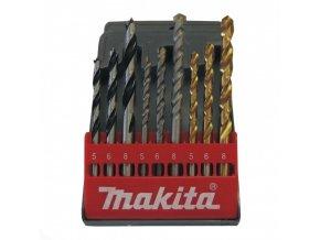 Makita D-08660 sada vrtáků do kovu/dřeva/zdiva 5/6/8mm, 9ks = newD-71962