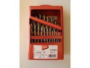 Makita P-60523 sada vrtáků do kovu HSS-G 1-13mm (po 0,5mm), 25ks