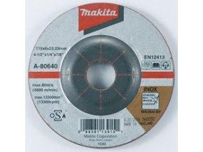 Makita A-80640 brusný kotouč 115x6x22 nerez
