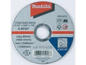 Kotouč řezný A-85307  115x2,5x22 ocel