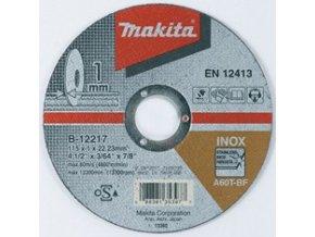 Makita B-12217 řezný kotouč 115x1x22 nerez