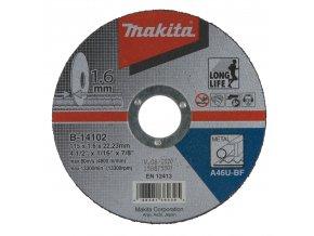 Makita B-14102 řezný kotouč 115x1,6x22 ocel