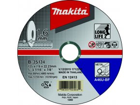 Makita B-35134 řezný kotouč 125x1,6mm ocel
