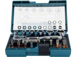 """Makita B-54081 sada bitů a nástrčných klíčů šestihran 1/4"""", 21 ks"""
