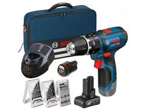 Aku vrtací šroubovák Bosch GSR 12V-15 0 615 990 G6L 1x2,0 1x4,0 aku s příslušenstvím