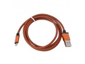 Platinet kabel USB Lightning opletený 1m oranžová (PUCFBIP1O)