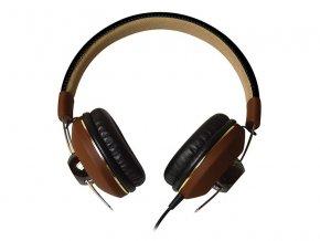 Maxell MXH-HP600 Retro DJ2 sluchátka hnědá