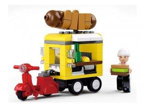 Sluban B-0565 Hot-dog vůz 112 dílků