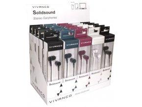 Vivanco SOLIDSOUND sluchátka černé