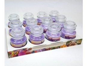 Bartek svíčka vosková v dóze 130g levandule 0042