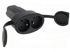 LEGRAND 050575 dvojzásuvka gumová IP44 250V/16A