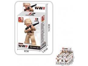 Sluban B-0582 figurka vojáci WW2 v krabičce 16 dílků