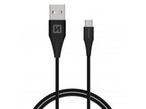 SWISSTEN kabel USB microUSB 1,5m ČERNÁ