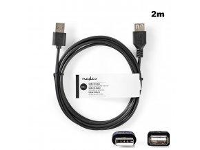 Nedis CCGT60010BK20 USB 2.0 prodlužovací kabel AM - AF 2m