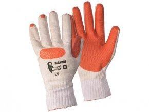 Povrstvené rukavice BLANCHE, bílo-oranžové