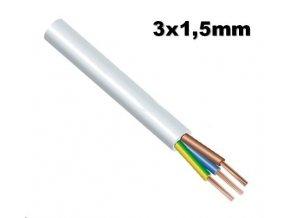 DRAKA CYSY - H05VV-F 3G1,5 instalační vodič 3x1,5mm ohebný bílý