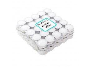 Provence svíčka vosková čajová 100ks bílá 560103