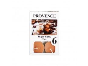 Provence svíčka vosková čajová 6ks sladké koření 560227/87