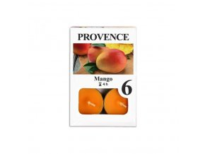 Provence svíčka vosková čajová 6ks mango 560227/10