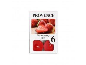 Provence svíčka vosková čajová 6ks jahoda 560227/43