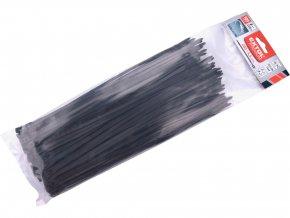 pásky stahovací na kabely EXTRA, černé, 280x4,6mm, 100ks, nylon PA66