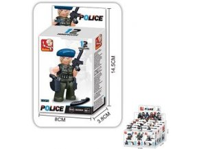 Sluban B-0586 figurka policie v krabičce 16 dílků
