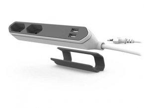 POWERCUBE - Powerbar USB bílá/šedá